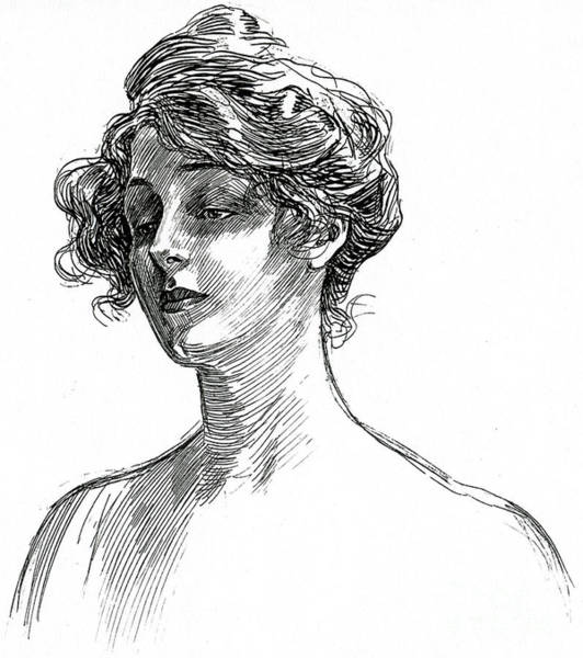 Wall Art - Drawing - Gibson Girl Circa 1902 by Charles Dana Gibson