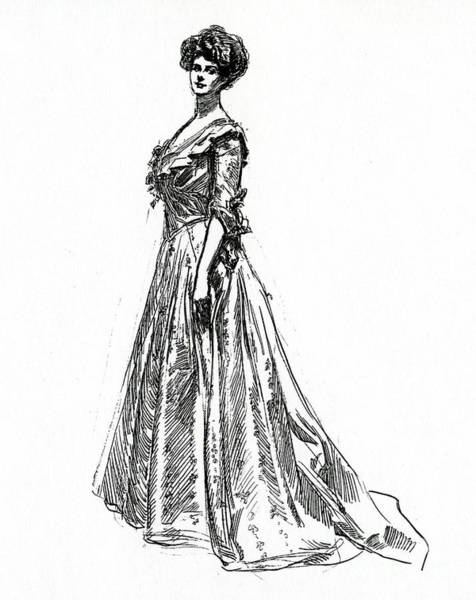 Wall Art - Drawing - Gibson Girl From 1902 by Charles Dana Gibson