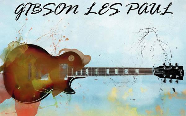 Mixed Media - Gibson Les Paul Guitar by Dan Sproul