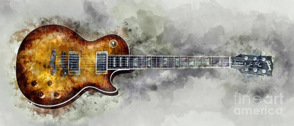 Wall Art - Photograph - Gibson Les Paul  by Jon Neidert