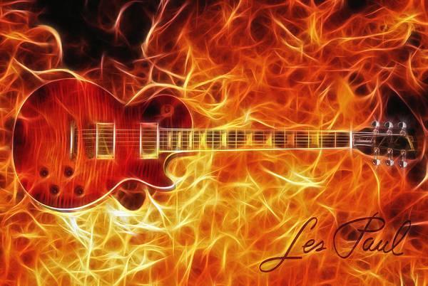 Traditional Home Digital Art - Gibson Les Paul by Zapista Zapista