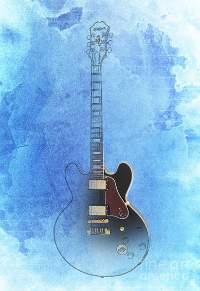 B B King Drawing - Gibson Lucille Guitar by Drawspots Illustrations