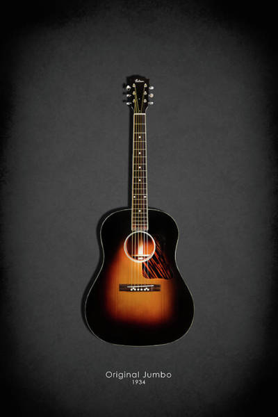 Wall Art - Photograph - Gibson Original Jumbo 1934 by Mark Rogan