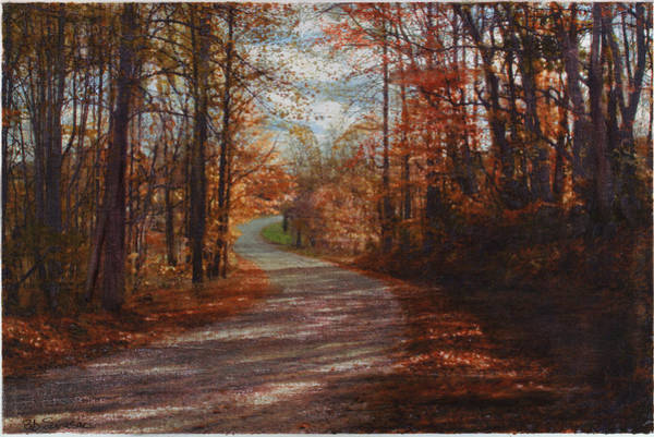 Mixed Media - Gibson Ridge Road by Bob Senesac