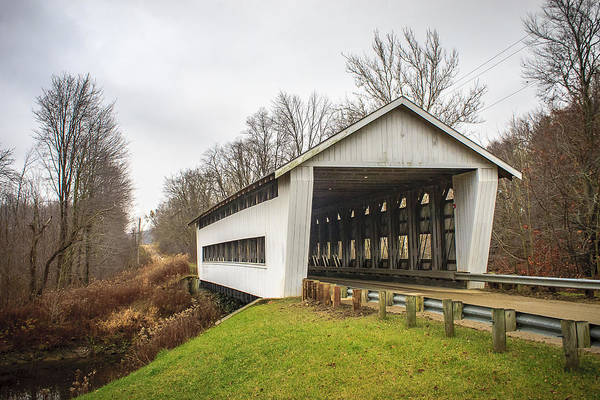 Photograph - Giddings Road Covered Bridge  by Jack R Perry