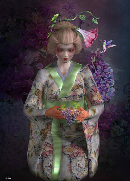 Geisha Mixed Media - Giesha Beauty 001 by G Berry
