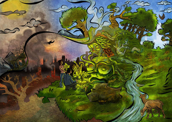 Wall Art - Digital Art - Gift For Gaia by Jayson Green