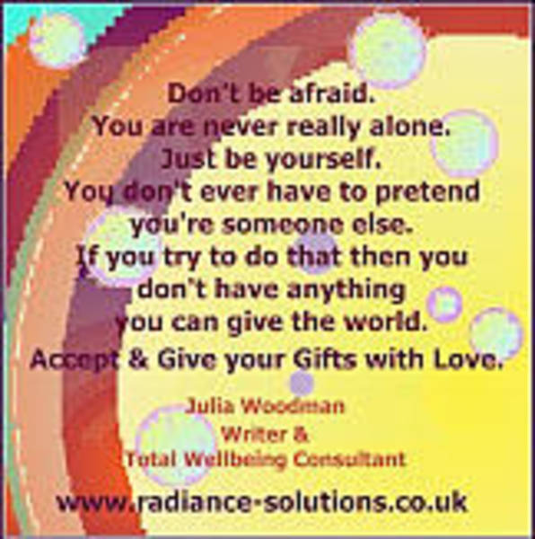 Digital Art - Gifts 2 - Don't Pretend - Accept And Give Your Gifts With Love by Julia Woodman