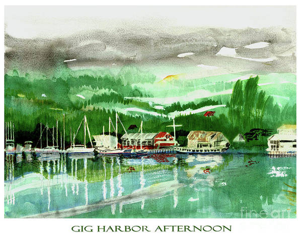 Wall Art - Painting - Gig Harbor Afternoon by Jack Pumphrey