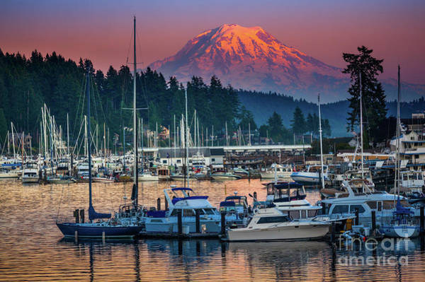Pacific Northwest Photograph - Gig Harbor Dusk by Inge Johnsson