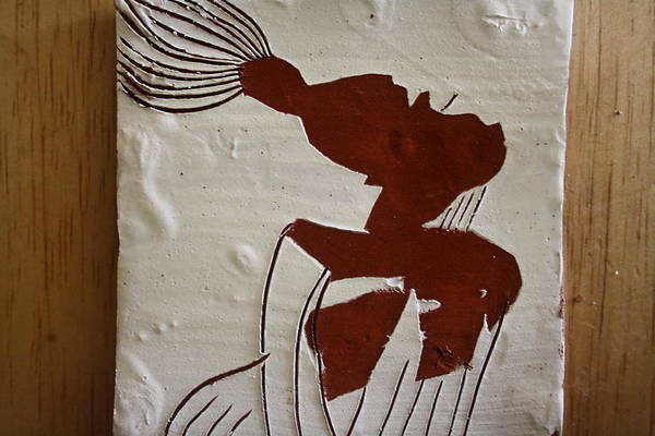 Ceramic Art - Gigi - Tile by Gloria Ssali