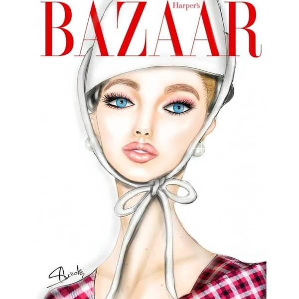 Blondie Digital Art - Gigi Hadid by Nicole Sorgoni