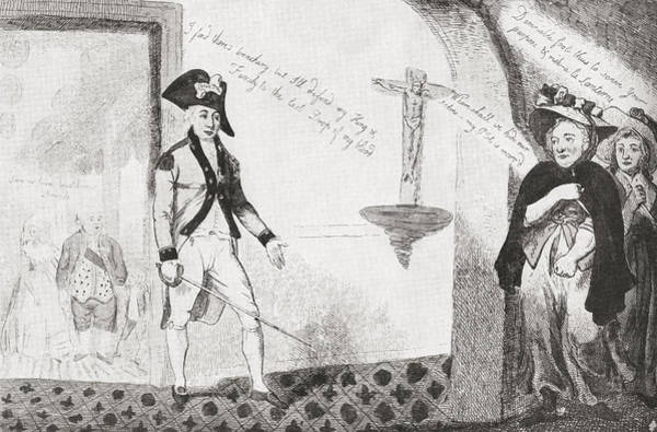 Wall Art - Drawing - Gilbert Du Motier, Marquis De Lafayette by Vintage Design Pics