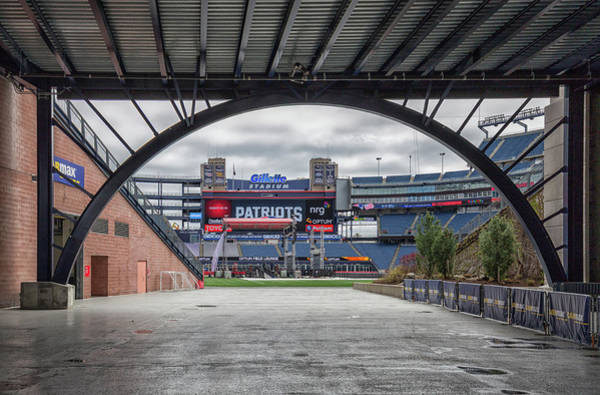 Photograph - Gillette Stadium And The Four Super Bowl Banners by Brian MacLean
