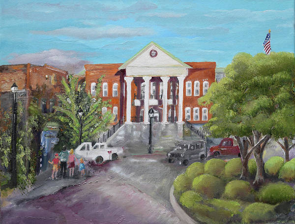 Courthouse Painting - Gilmer County Courthouse - Ellijay, Ga by Jan Dappen