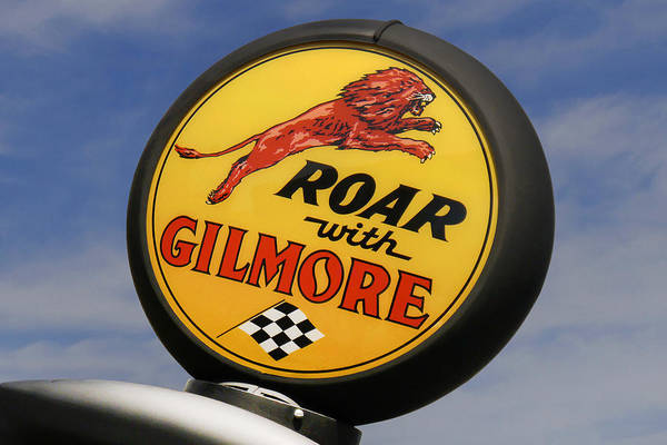 Gas Station Wall Art - Photograph - Gilmore Gas Globe by Mike McGlothlen