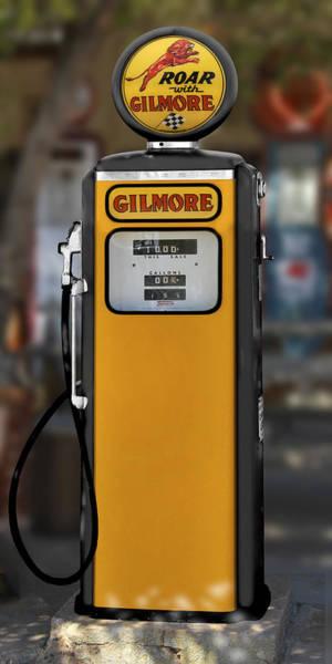 Wall Art - Photograph - Gilmore Gasoline - Tokheim Pump by Mike McGlothlen