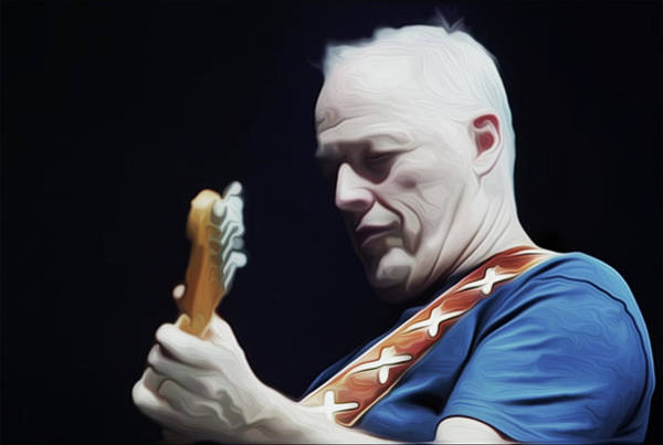 David Gilmour Painting - Gilmour By Nixo by Never Say Never