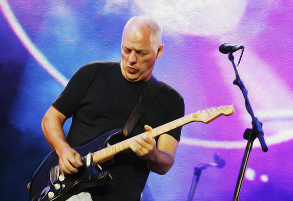 David Gilmour Painting - Gilmour Maroon Nixo by Never Say Never