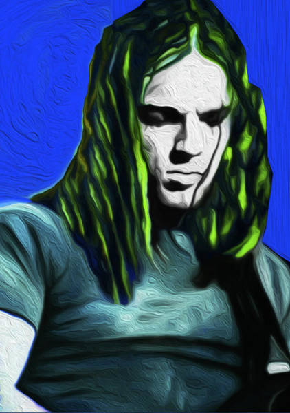 David Gilmour Painting - Gilmour Neon Nixo by Never Say Never