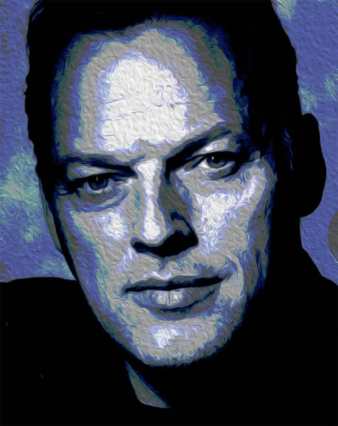 David Gilmour Painting - Gilmour Self Nixo by Never Say Never