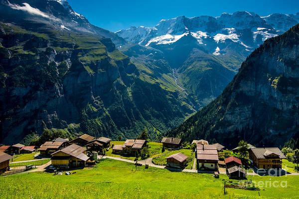 Swiss Alps Wall Art - Photograph - Gimmelwald In Swiss Alps - Switzerland by Gary Whitton
