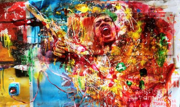 Wall Art - Painting - gimmone Jimi Endrix by Massimo Chioccia