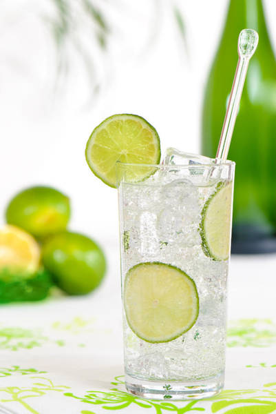 Tonic Photograph - Gin And Tonic Drink by Amanda Elwell