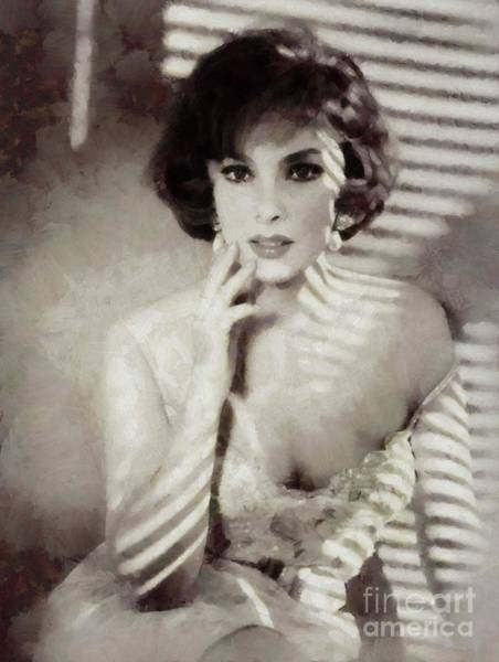 Gina Wall Art - Painting - Gina Lollobrigida, Actress by Mary Bassett