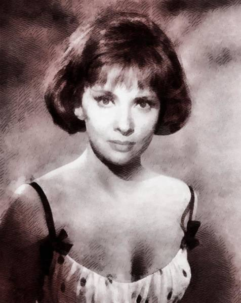 Gina Wall Art - Painting - Gina Lollobrigida Hollywood Actress by John Springfield