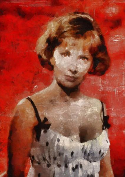 Gina Wall Art - Painting - Gina Lollobrigida Hollywood Actress by Mary Bassett