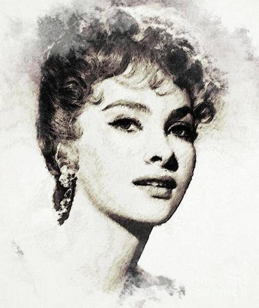 Gina Wall Art - Digital Art - Gina Lollobrigida, Vintage Actress by John Springfield