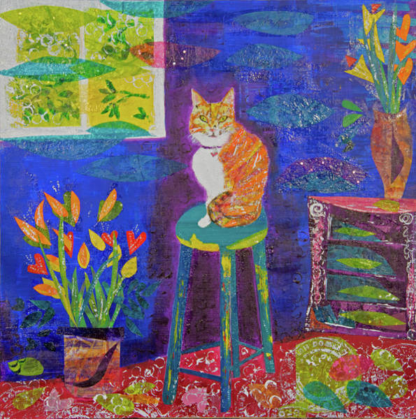 Mixed Media - Ginger The Cat by Paper Jewels By Julia Malakoff