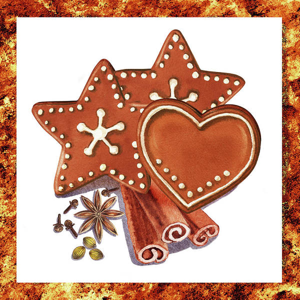 Wall Art - Painting - Gingerbread Cookies  by Irina Sztukowski