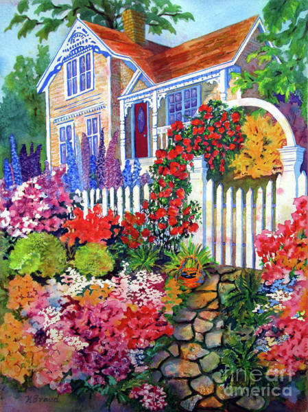 Happy Little Trees Painting - Gingerbread In Bloom by Kathy Braud