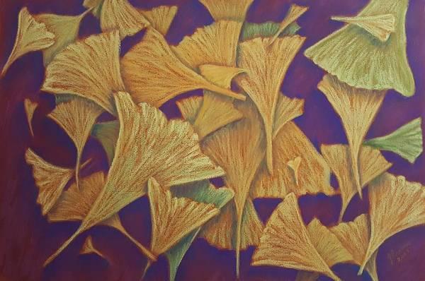 Wall Art - Pastel - Gingko Flurry by Joann Renner