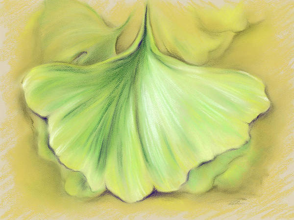 Pastel - Ginkgo On The Cusp Of Autumn by MM Anderson