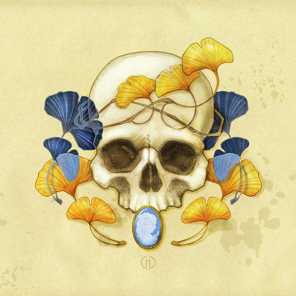 Skulls Wall Art - Digital Art - Ginkgo Relic by Catherine Noel
