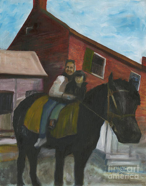 Wall Art - Painting - Ginnie Ronnie And Old Diamond by Gloria Condon