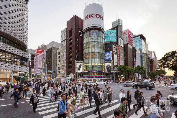 Photograph - Ginza Sanchome Intersection In Tokyo In Japan by Didier Marti