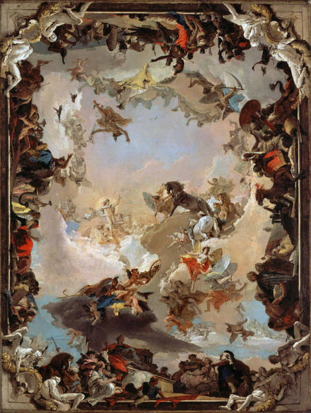 Photograph - Giovanni Battista Tiepolo by Allegory of the Planets