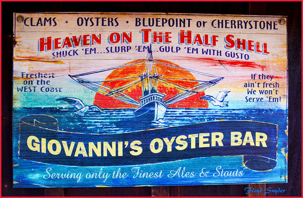 Oyster Bar Wall Art - Painting - Giovanni's Oyster Bar by Floyd Snyder