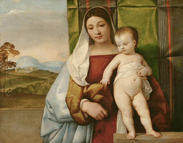 Titian Painting - Gipsy Madonna by Titian