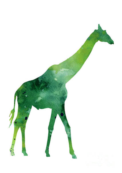 Giraffe Painting - Giraffe African Animals Gift Idea by Joanna Szmerdt