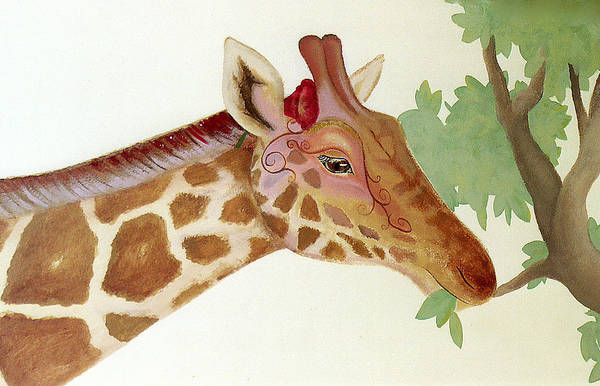 Painting - Giraffe Avatar by Suzn Smith