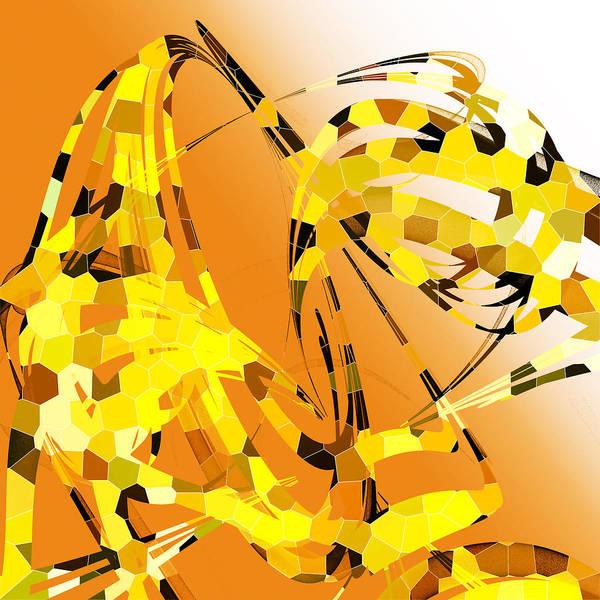 Gold Digital Art - Giraffe  by Betsy Knapp