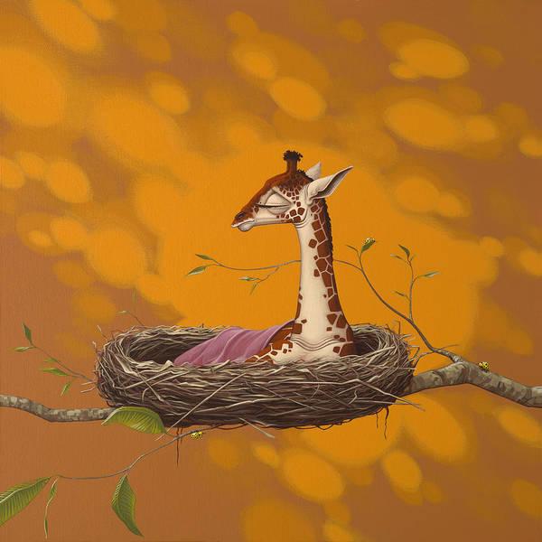 Nest Wall Art - Painting - Giraffe by Jasper Oostland