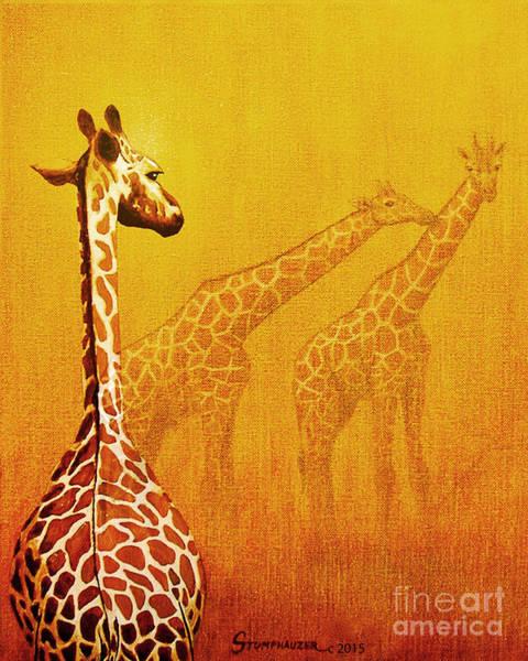 Wall Art - Painting - Giraffe Memories by Jerome Stumphauzer