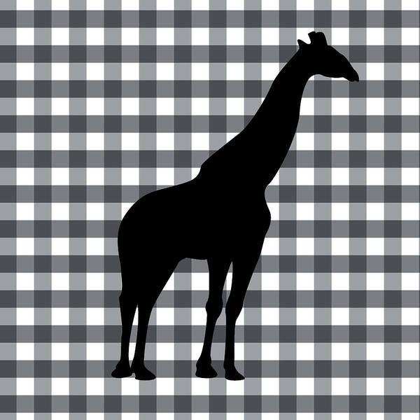 Birthday Digital Art - Giraffe Silhouette by Linda Woods