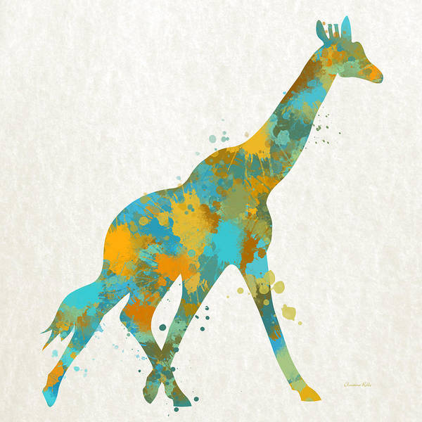 Wall Art - Mixed Media - Giraffe Watercolor Art by Christina Rollo